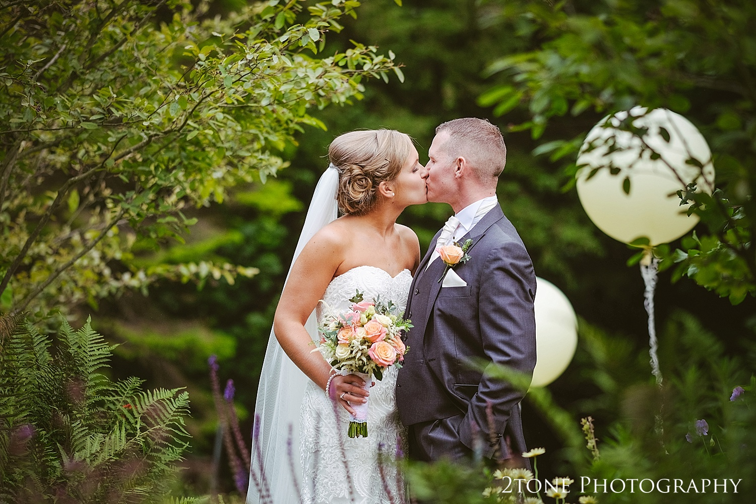 Wedding photographs of the bride and groom at Jesmond Dene House in Newcastle by 2tone Photography www.2tonephotography.co.uk