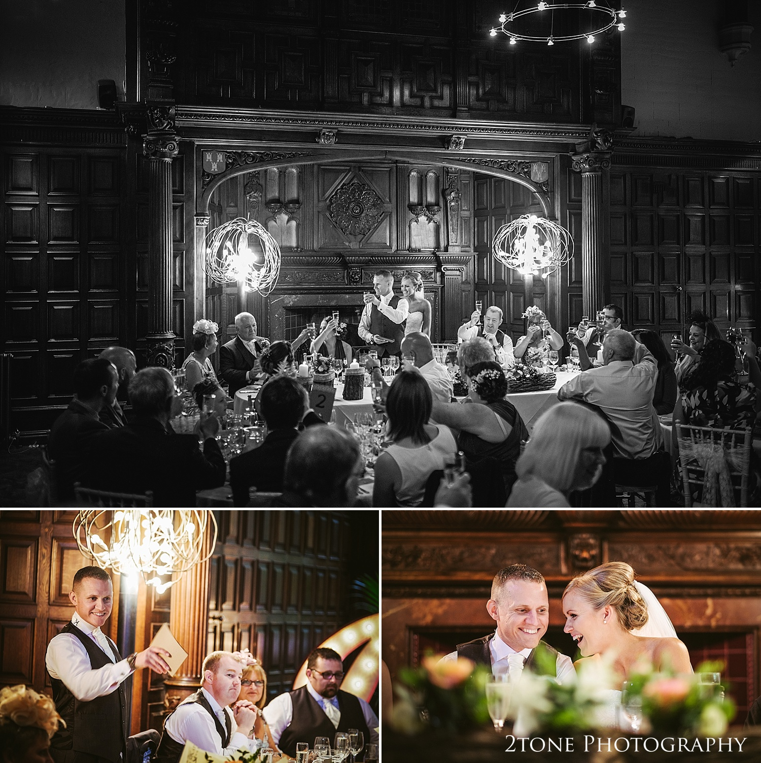 Wedding day toasts at Jesmond Dene House in Newcastle by 2tone Photography www.2tonephotography.co.uk
