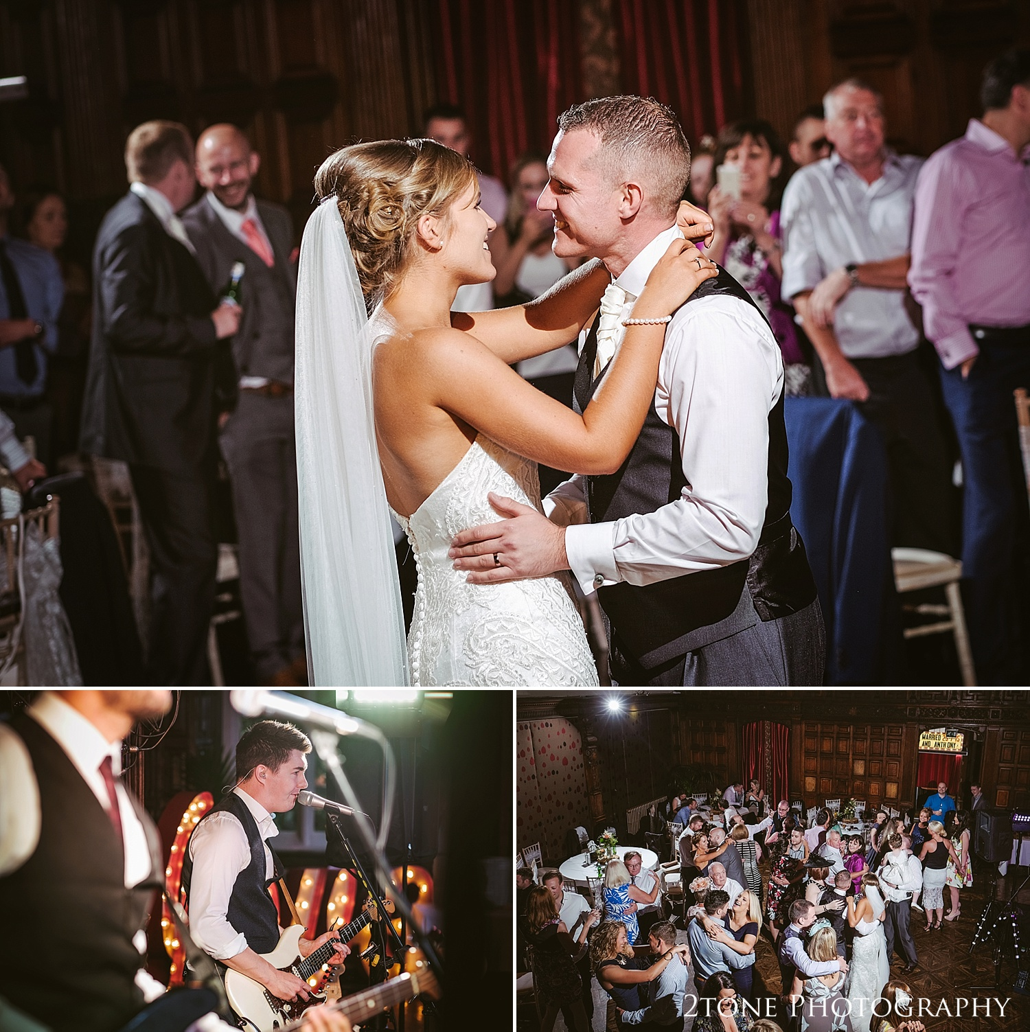 The bride and grooms first dance at Jesmond Dene House in Newcastle by 2tone Photography www.2tonephotography.co.uk