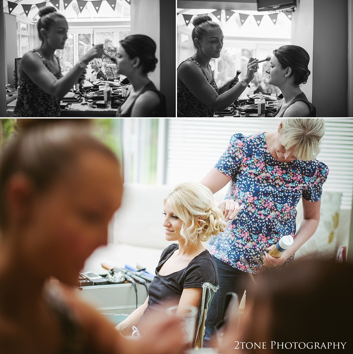 Wedding hair by Lisa Cameron, photographs by wedding photography team 2tone Photography www.2tonephotography.co.uk