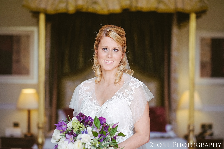 Bridal portrait.  Wedding photography at Matfen Hall by wedding photographer www.2tonephotography.co.uk