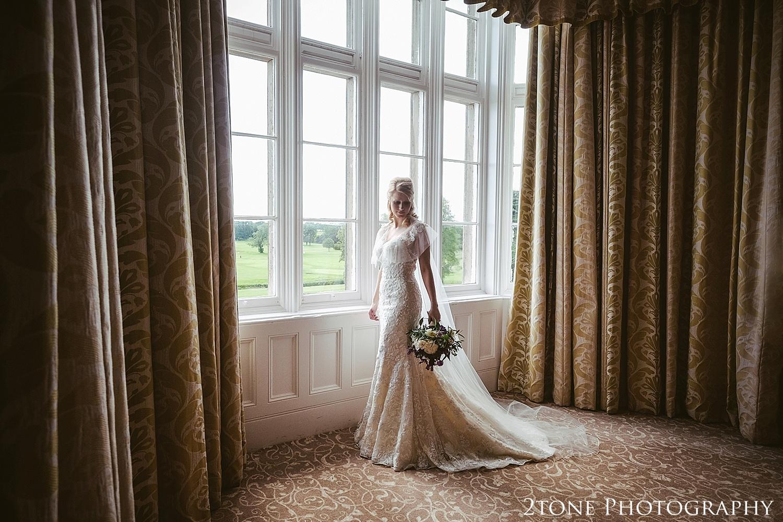 Bridal portrait at Matfen Hall.  Wedding photography at Matfen Hall by wedding photographer www.2tonephotography.co.uk