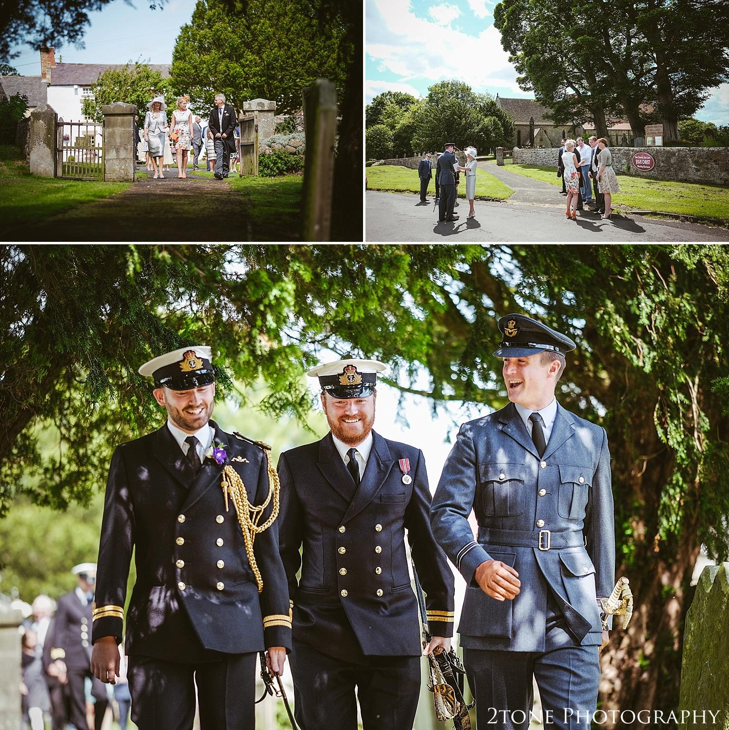 Groomsmen at Stamfordham Church.  Wedding photography at Matfen Hall by wedding photographer www.2tonephotography.co.uk