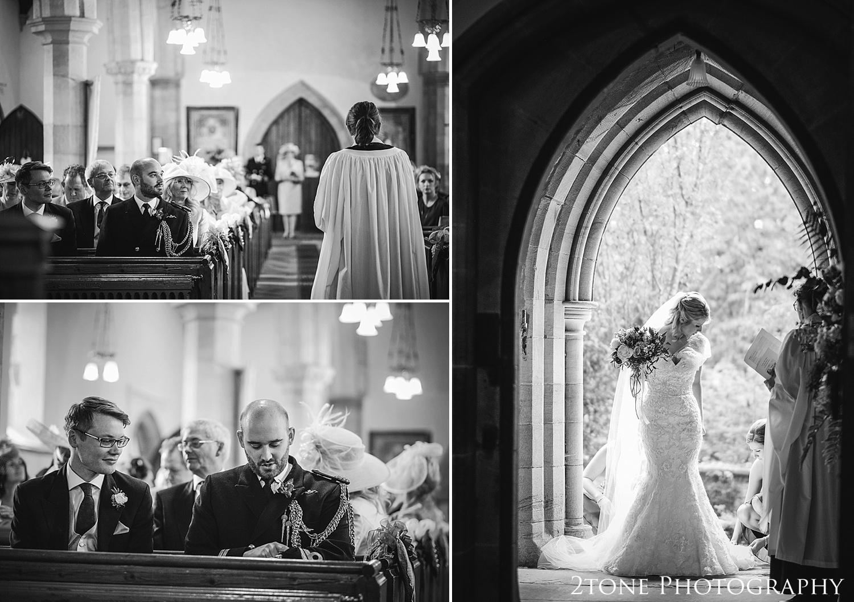 Wedding ceremony at Stamfordham Church.  Wedding photography at Matfen Hall by wedding photographer www.2tonephotography.co.uk