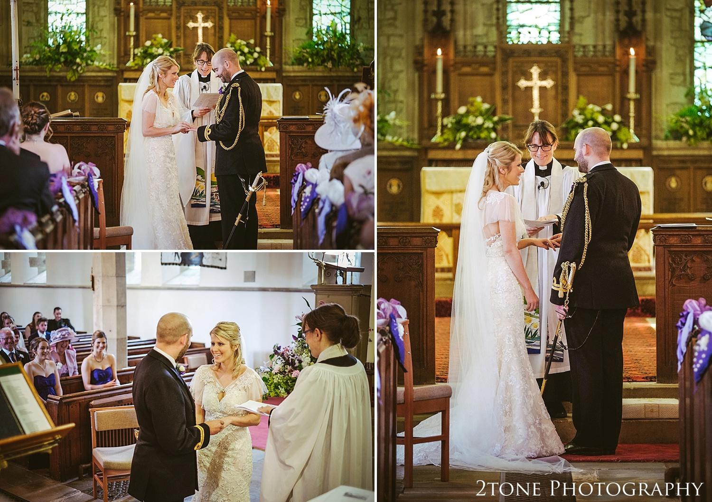 Wedding ceremony in Stamfordham.  Wedding photography at Matfen Hall by wedding photographer www.2tonephotography.co.uk