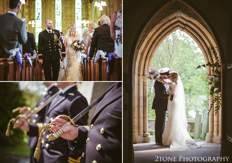 Wedding ceremony in Northumberland.  Wedding photography at Matfen Hall by wedding photographer www.2tonephotography.co.uk