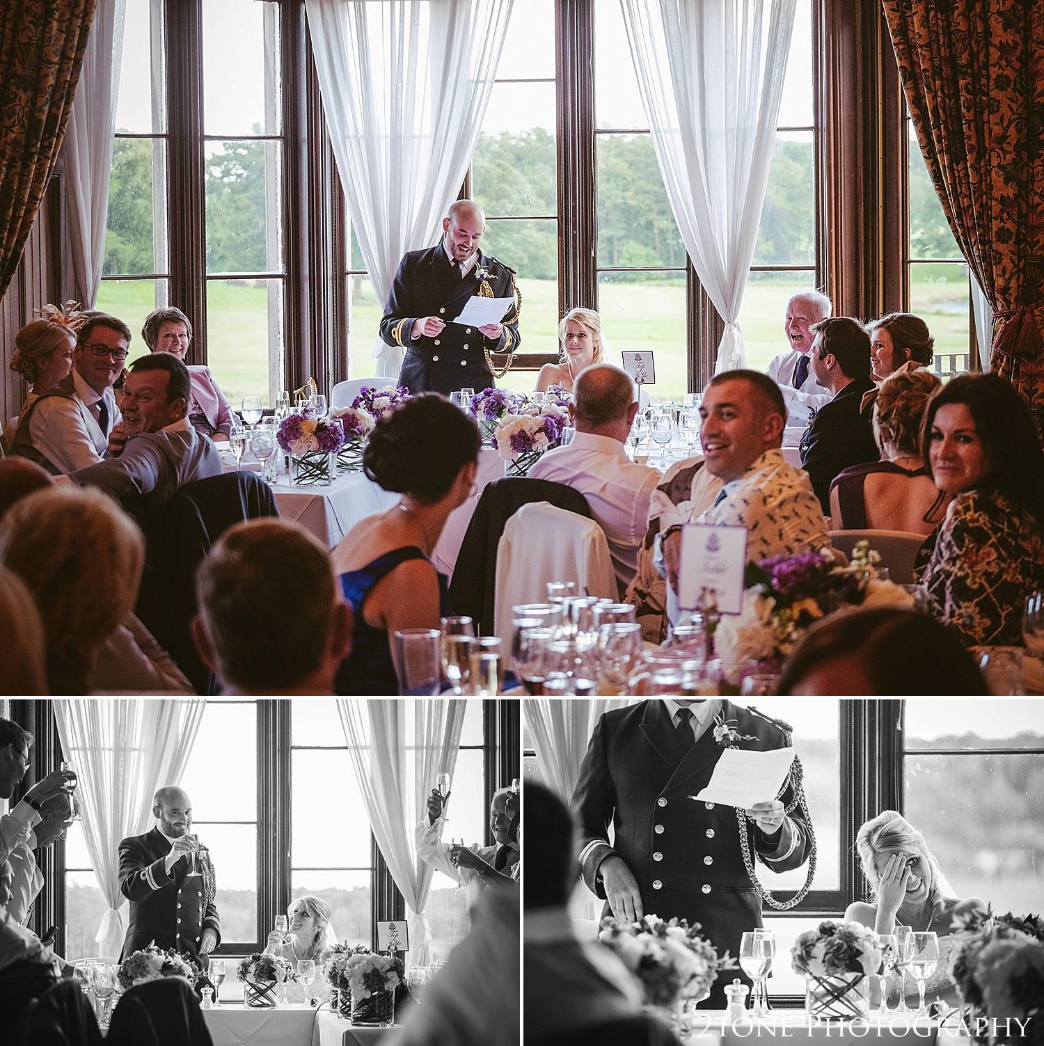Wedding grooms speech.  Wedding photography at Matfen Hall by wedding photographer www.2tonephotography.co.uk