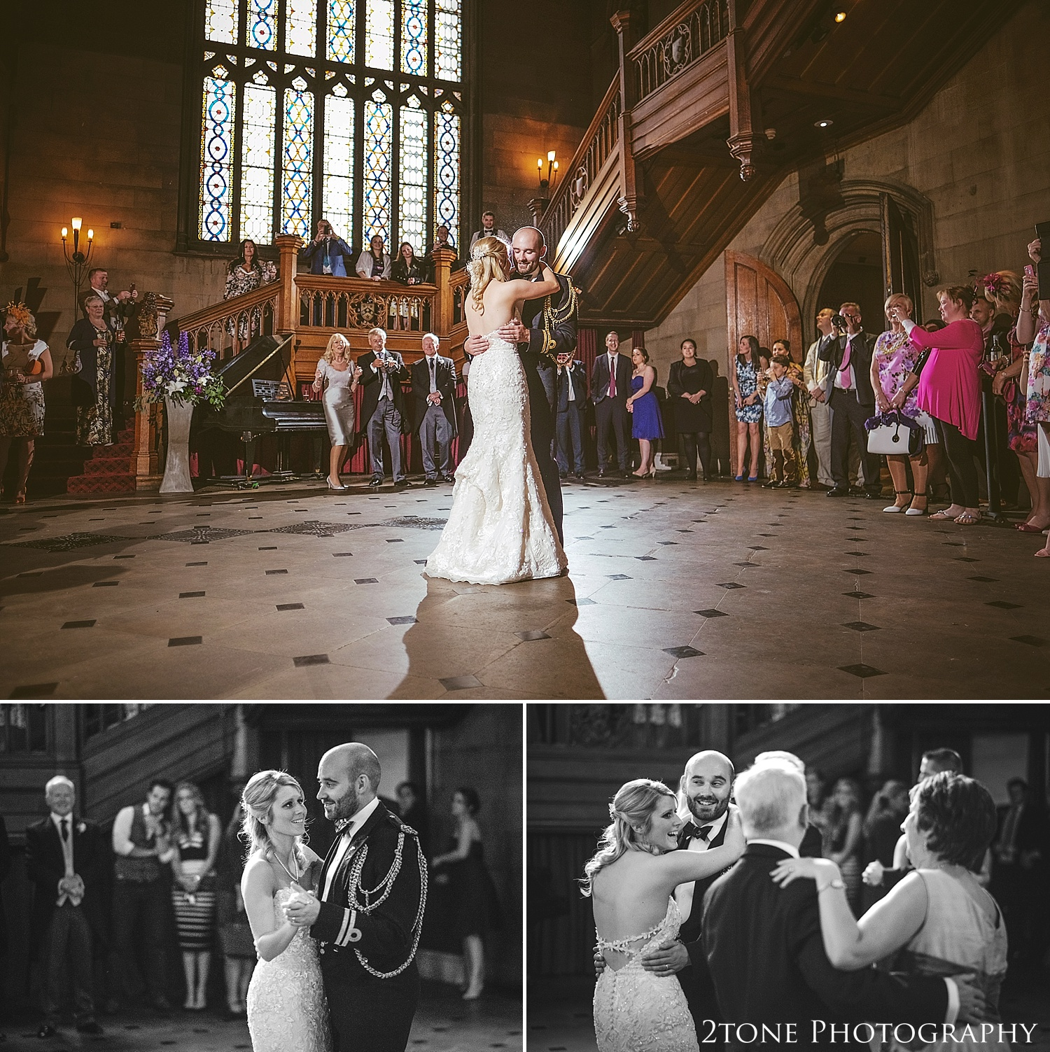 First dance in the Great Hall.  Wedding photography at Matfen Hall by wedding photographer www.2tonephotography.co.uk