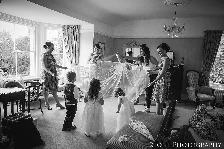 Wedding veil.  Victoria Noble hair stylist.  Wedding photography at Guyzance Hall by wedding photographers www.2tonephotography.co.uk