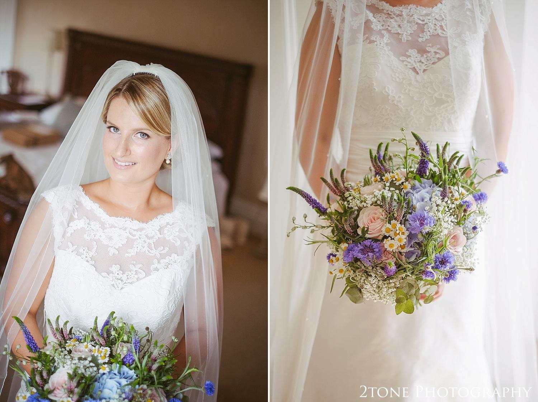 Bridal portrait.  Wedding photography at Guyzance Hall by wedding photographers www.2tonephotography.co.uk