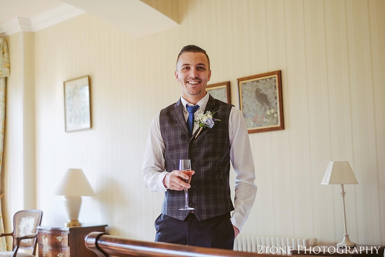 The groom.  Wedding photography at Guyzance Hall by wedding photographers www.2tonephotography.co.uk