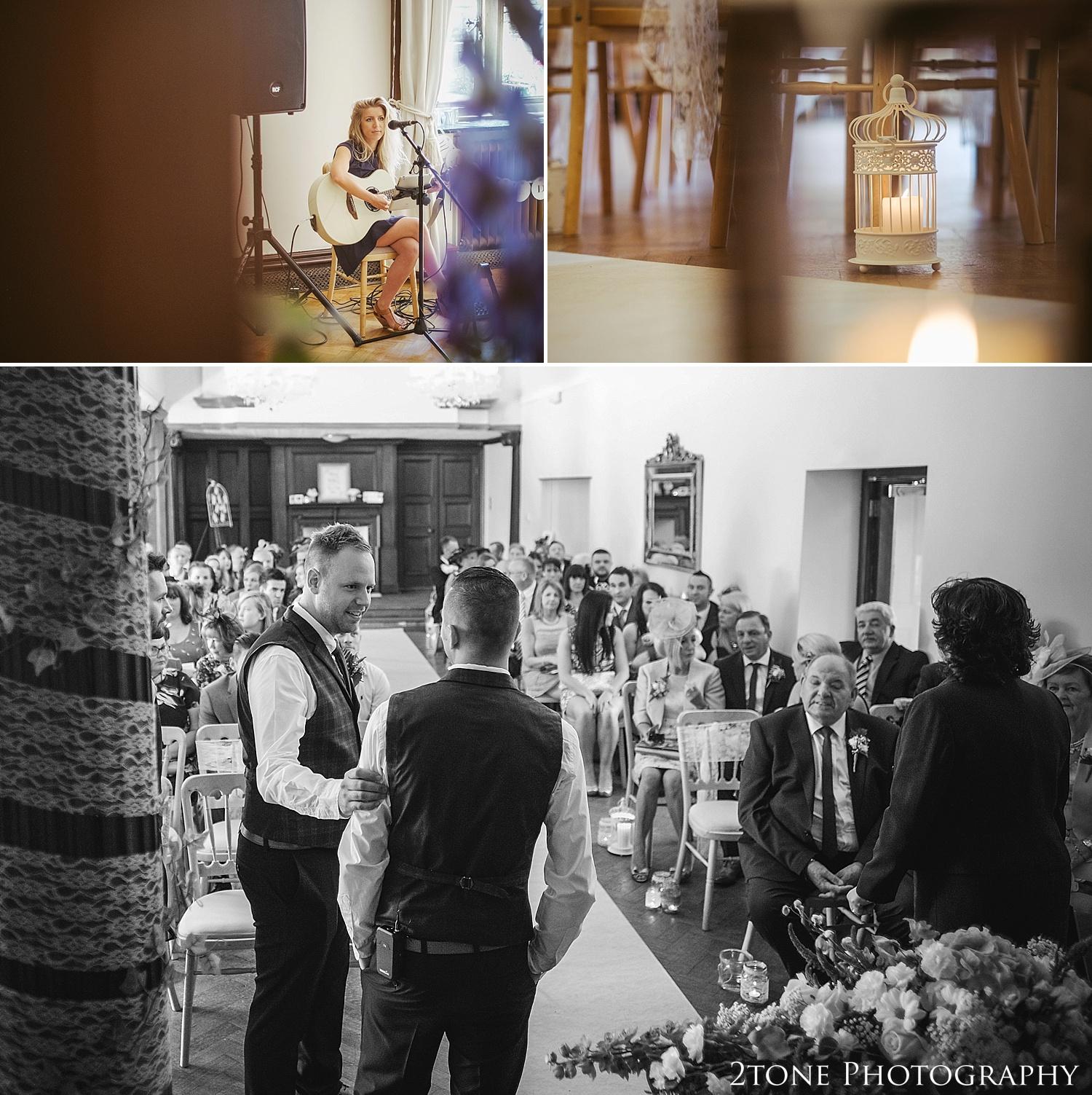 Wedding ceremony.  Wedding photography at Guyzance Hall by wedding photographers www.2tonephotography.co.uk