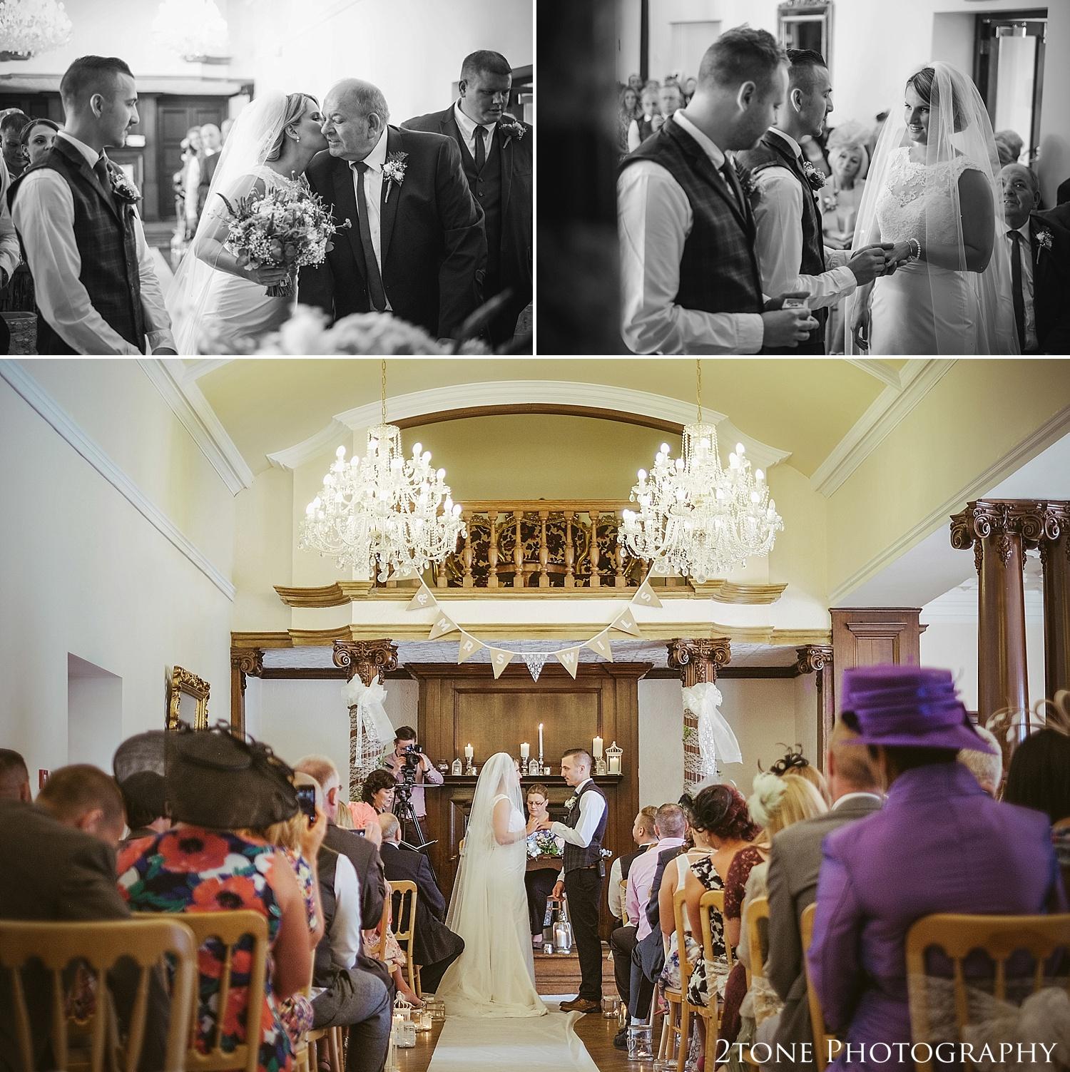 Wedding ceremony in Northumberland.  Wedding photography at Guyzance Hall by wedding photographers www.2tonephotography.co.uk