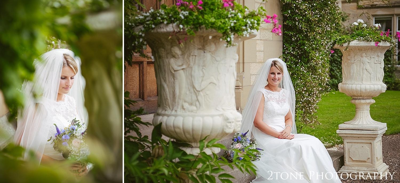 The bride.  Wedding photography at Guyzance Hall by wedding photographers www.2tonephotography.co.uk