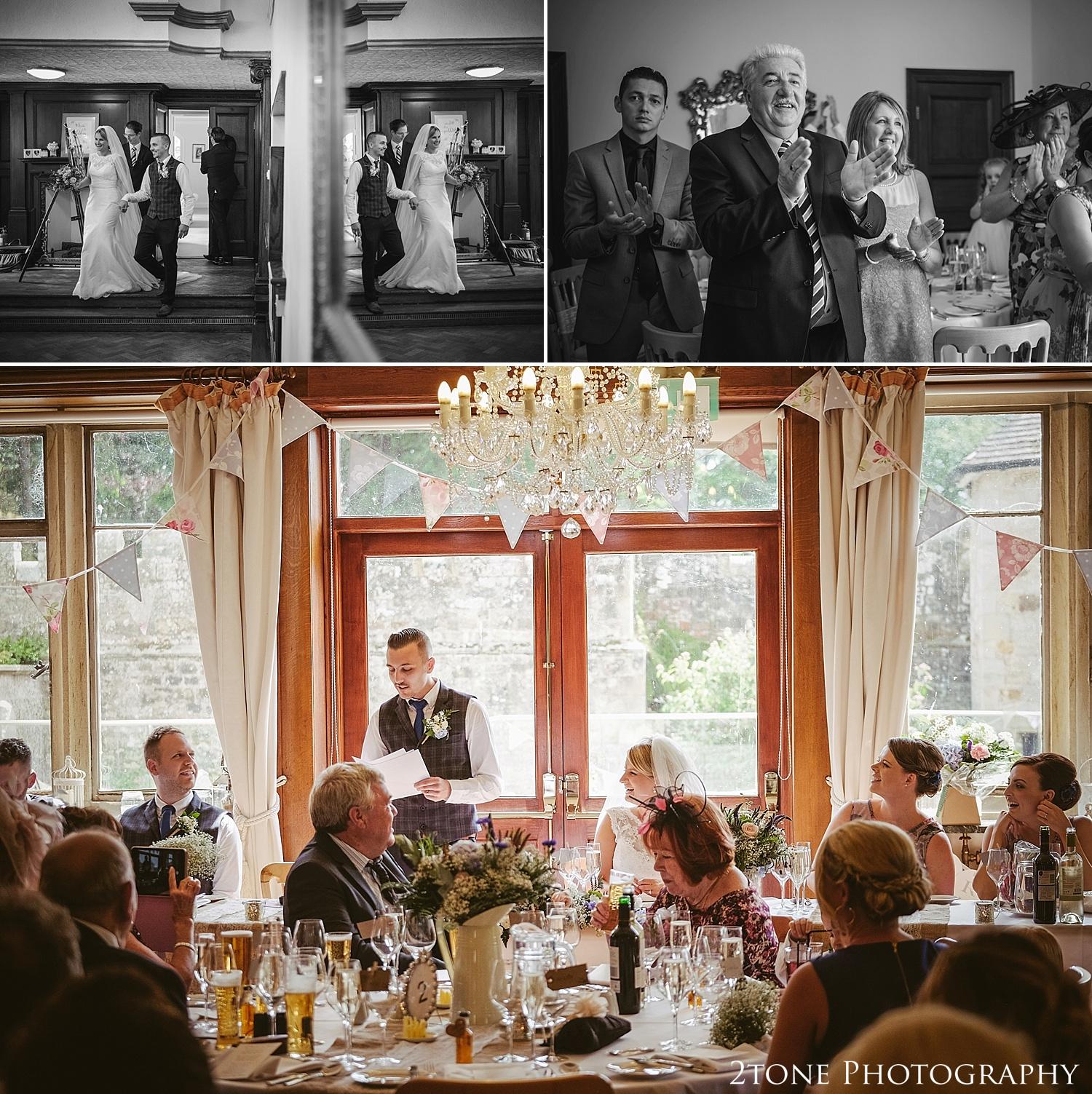 Wedding speeches.  Wedding photography at Guyzance Hall by wedding photographers www.2tonephotography.co.uk