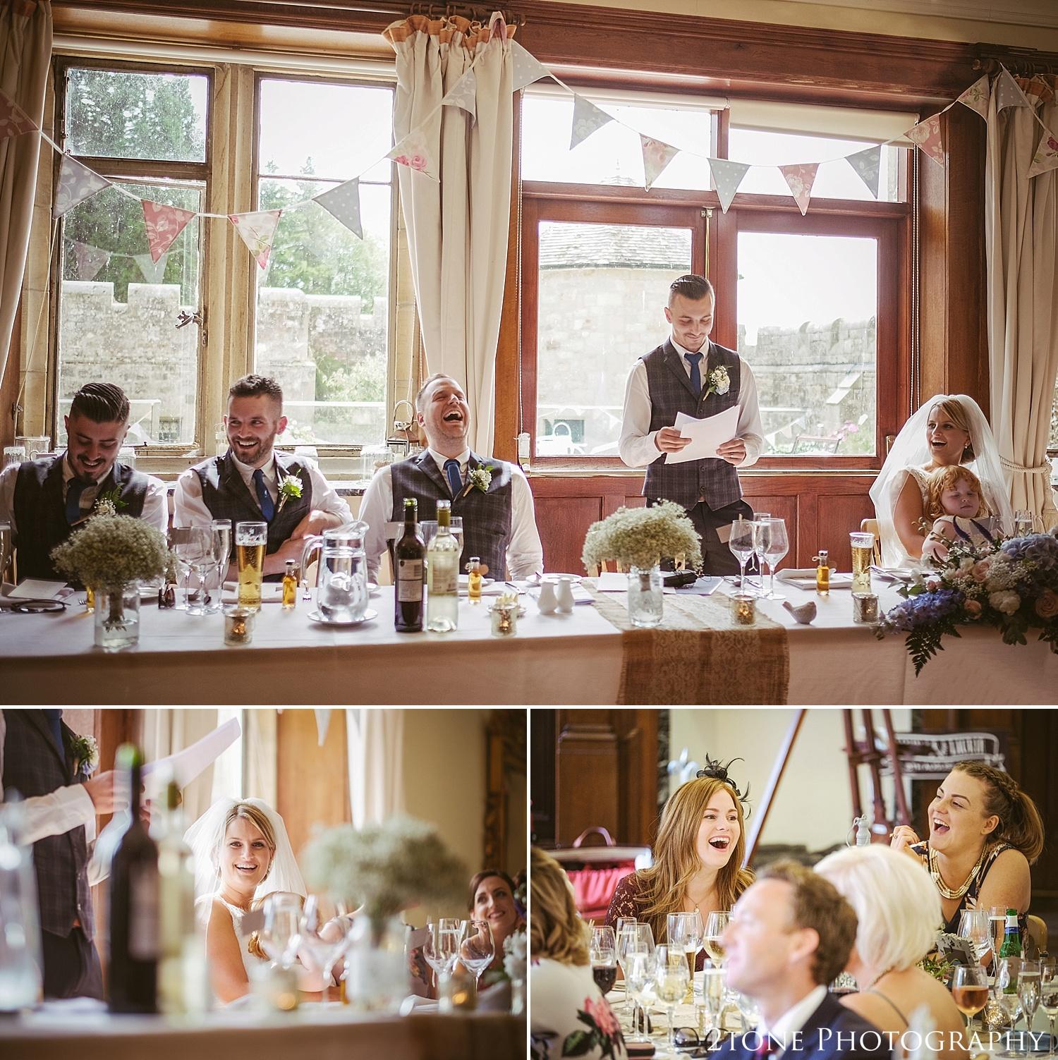 Speeches. Wedding photography at Guyzance Hall by wedding photographers www.2tonephotography.co.uk