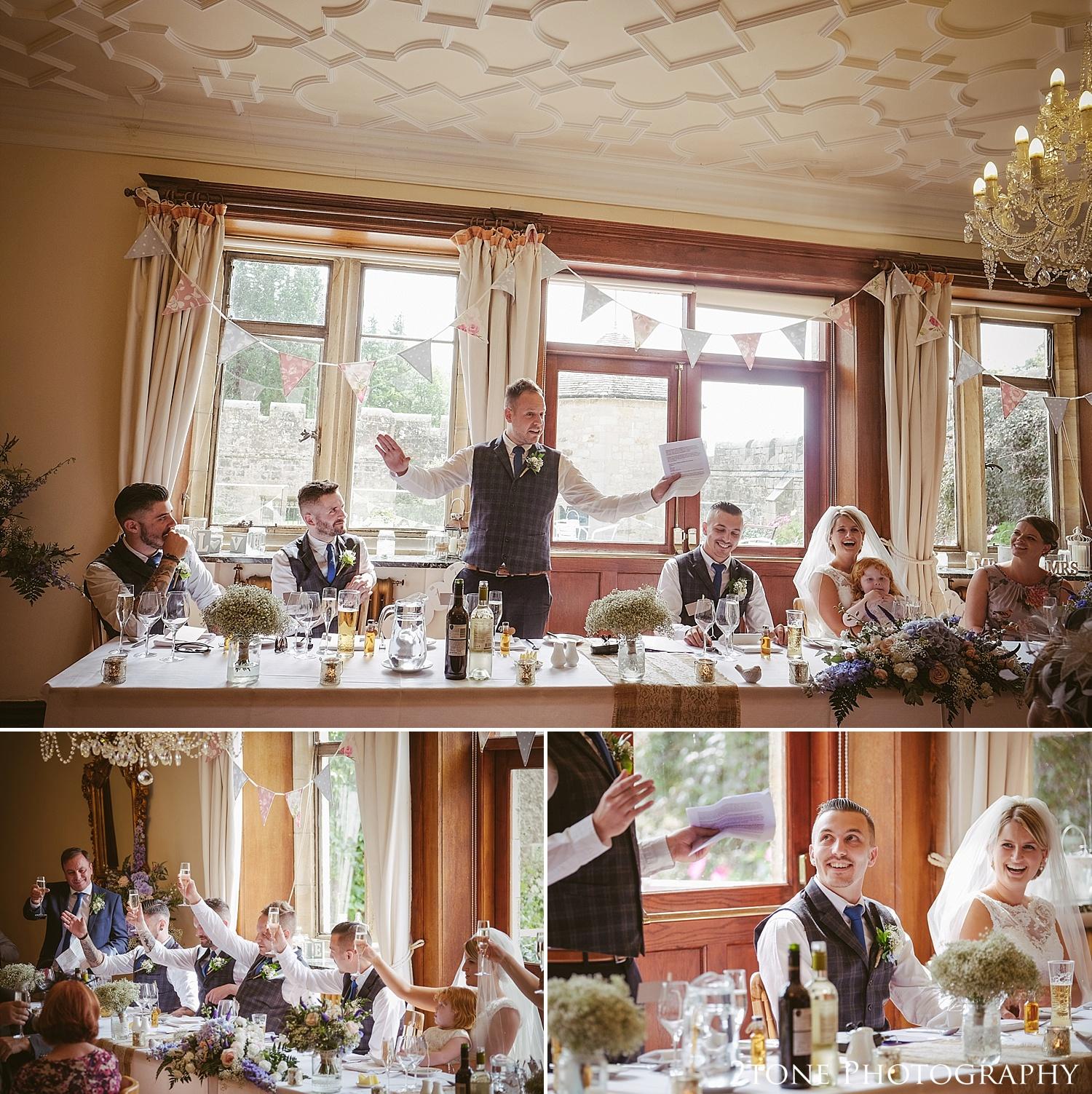 Wedding photography speeches.  Wedding photography at Guyzance Hall by wedding photographers www.2tonephotography.co.uk