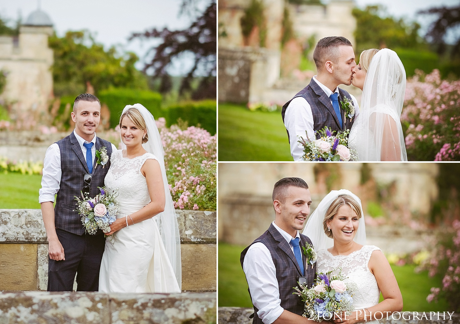 The bride and groom.  Wedding photography at Guyzance Hall by wedding photographers www.2tonephotography.co.uk