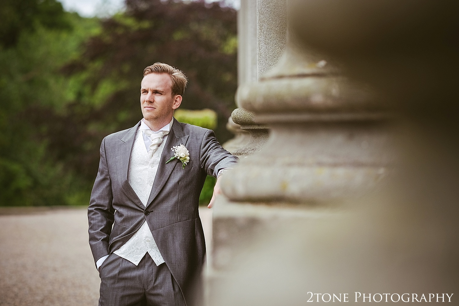 The groom.  Wedding photography at Wynyard Hall by husband and wife wedding photographers 2tone Photography www.2tonephotography.co.uk