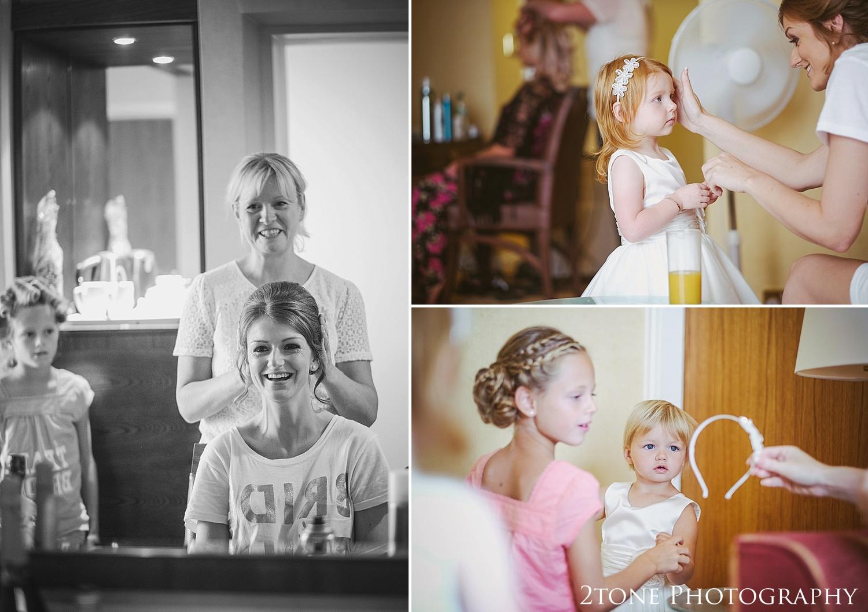 Bridal preparations.  Slaley Hall wedding photography by wedding photographers 2tone Photography.  www.2tonephotography.co.uk