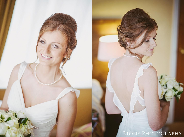 Bridal portrait at Slaley Hall wedding photography by wedding photographers 2tone Photography.  www.2tonephotography.co.uk