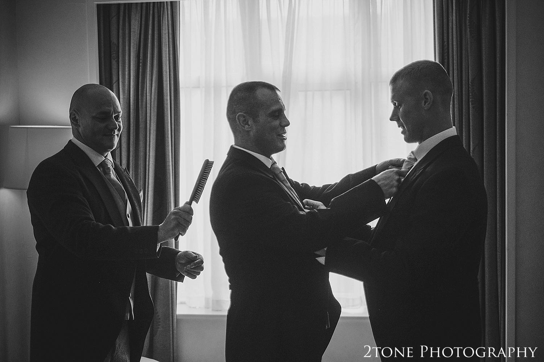 Groom's preparations.  Slaley Hall wedding photography by wedding photographers 2tone Photography.  www.2tonephotography.co.uk