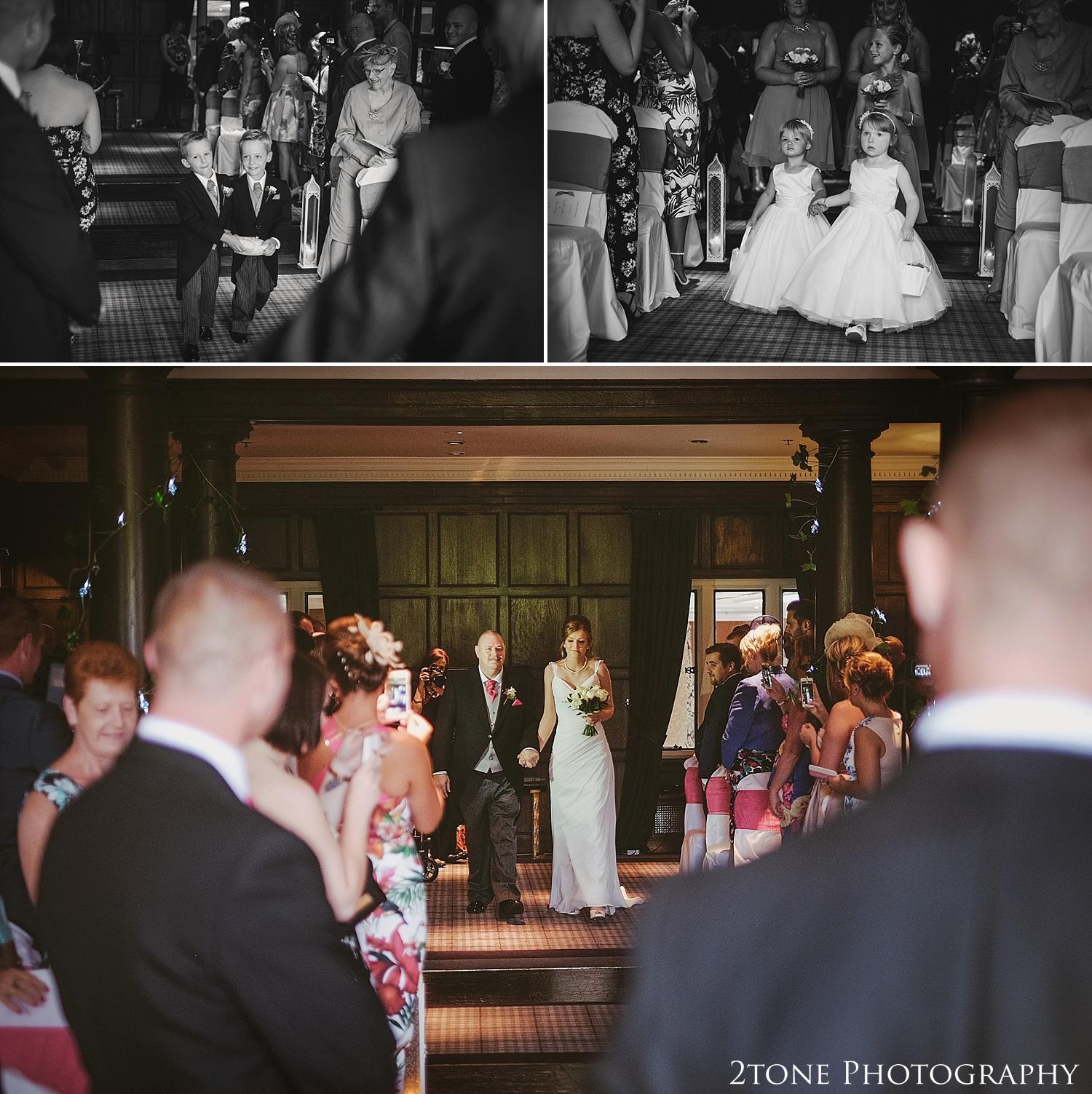 The wedding ceremony.  Slaley Hall wedding photography by wedding photographers 2tone Photography.  www.2tonephotography.co.uk