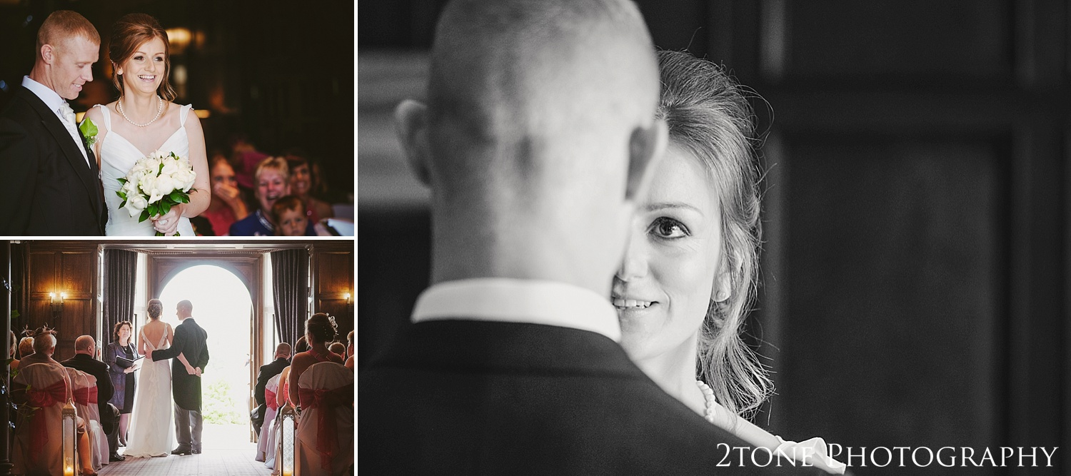 Natural photographs of a wedding ceremony.  Slaley Hall wedding photography by wedding photographers 2tone Photography.  www.2tonephotography.co.uk