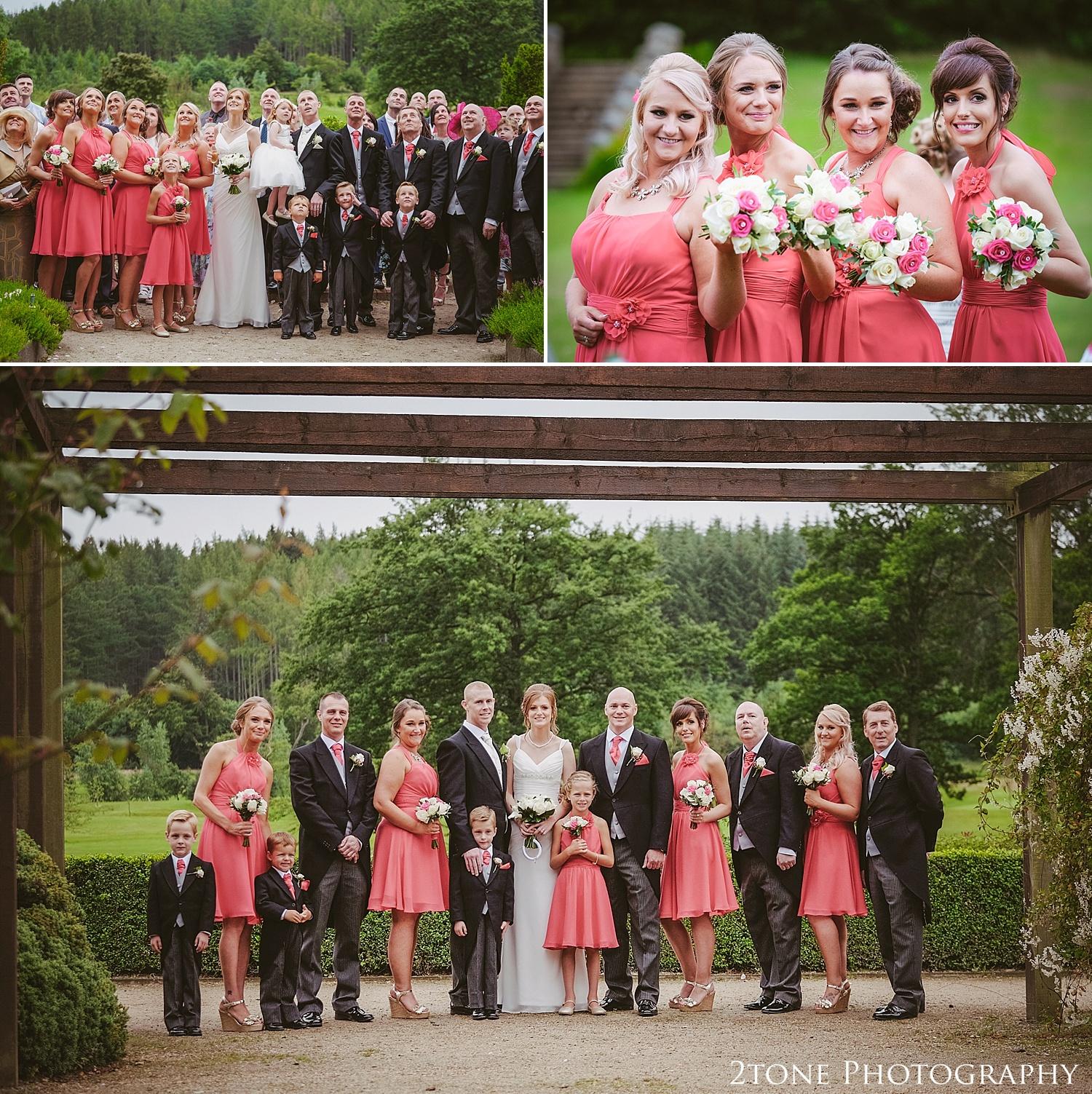 The Bridal party.  Slaley Hall wedding photography by wedding photographers 2tone Photography.  www.2tonephotography.co.uk