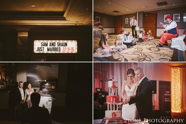Evening entertainment.  Slaley Hall wedding photography by wedding photographers 2tone Photography.  www.2tonephotography.co.uk