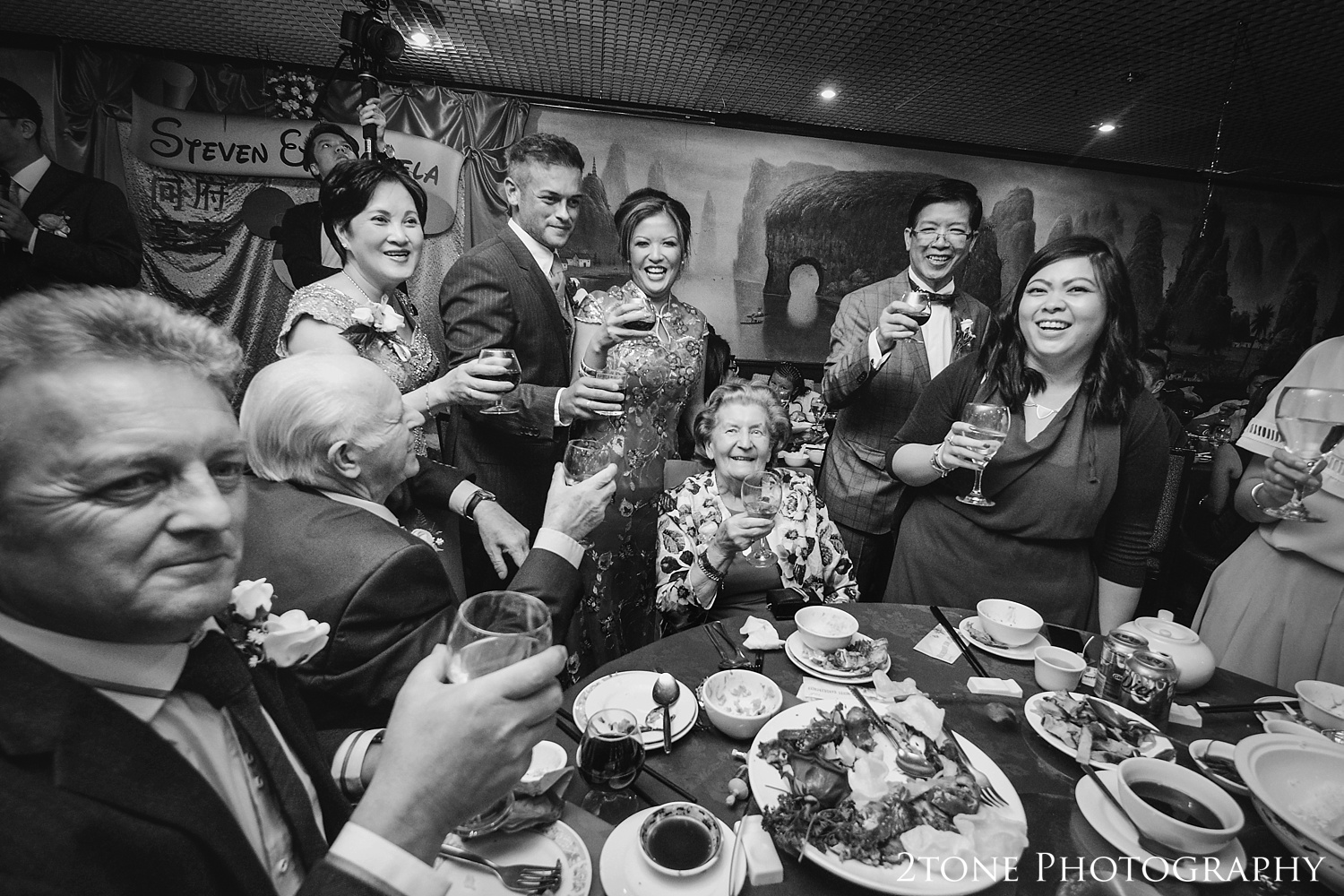 Chinese wedding banquet  by durham based husband and wife wedding photography duo 2tone Photography www.2tonephotography.co.uk