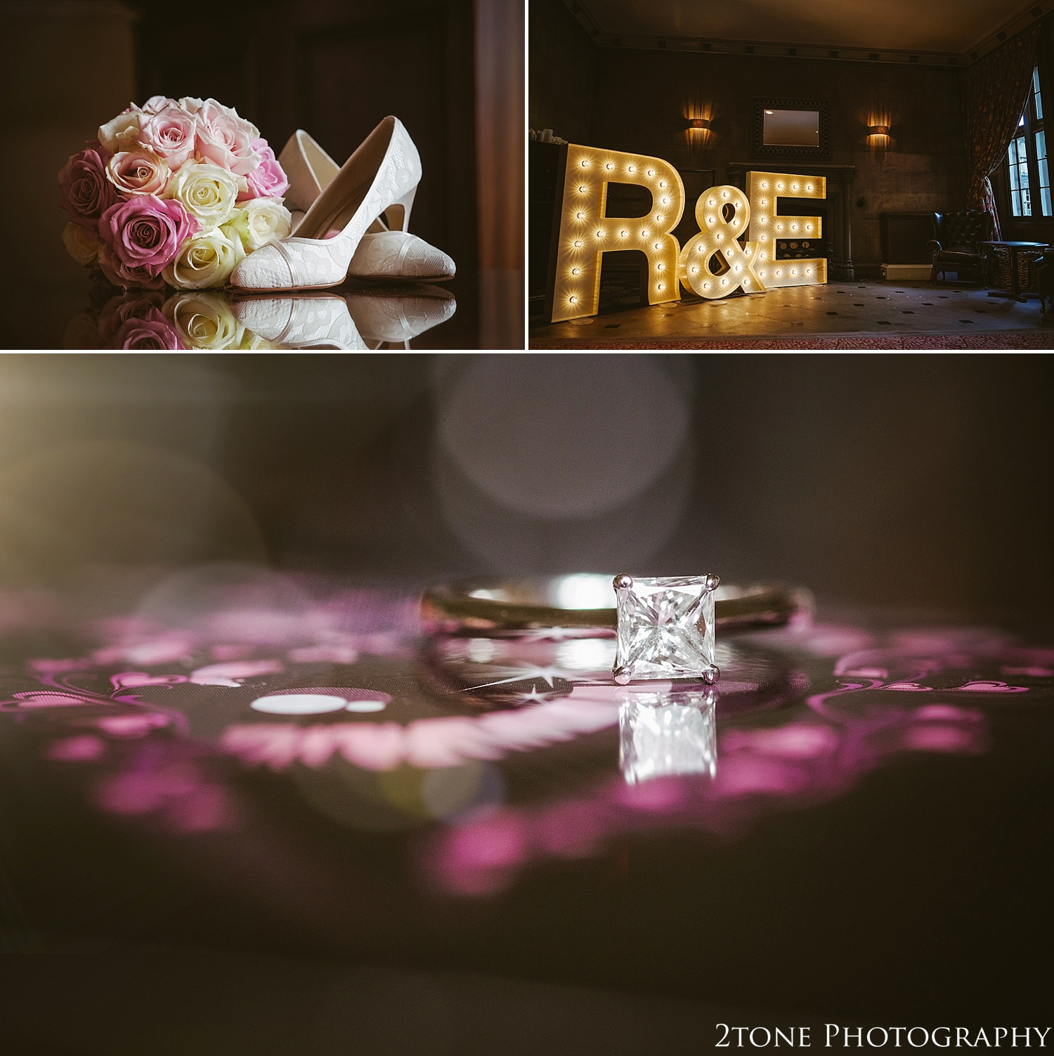 Wedding details.  Matfen Hall by Durham based wedding photographers 2tone Photography