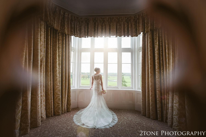 Bridal portrait.  Matfen Hall by Durham based wedding photographers 2tone Photography