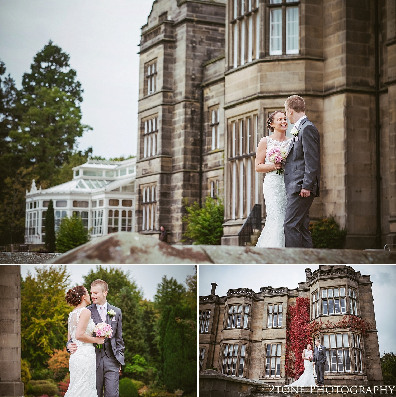 The bride and groom.  Matfen Hall by Durham based wedding photographers 2tone Photography www.2tonephotography.co.uk