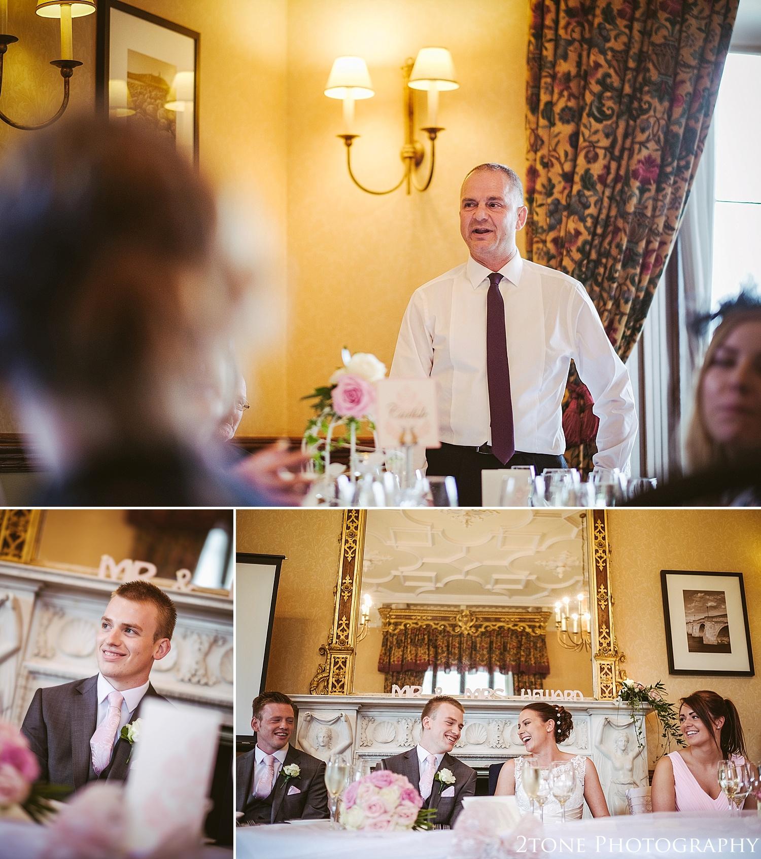 Wedding speeches.  Matfen Hall by Durham based wedding photographers 2tone Photography www.2tonephotography.co.uk