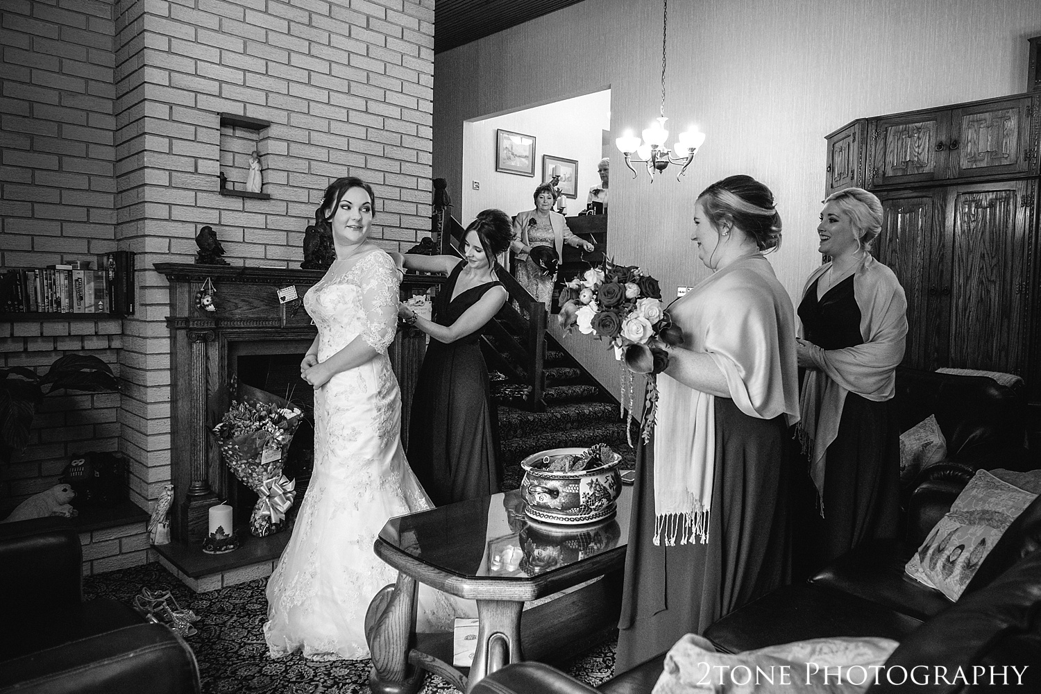 The bride getting ready.  Weddings at the Vermonth Hotel by wedding photographers 2tone Photography www.2tonephotography.co.uk