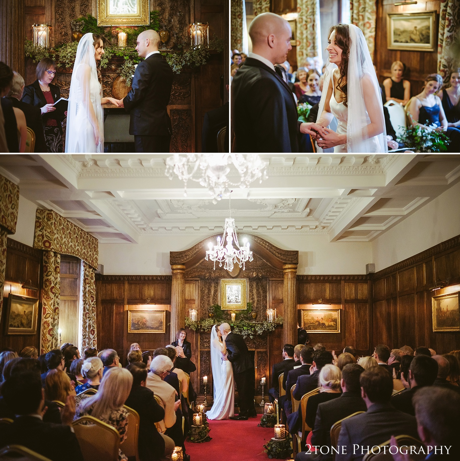 Weddings at Ellingham Hall. Winter wedding photography by www.2tonephotography.co.uk