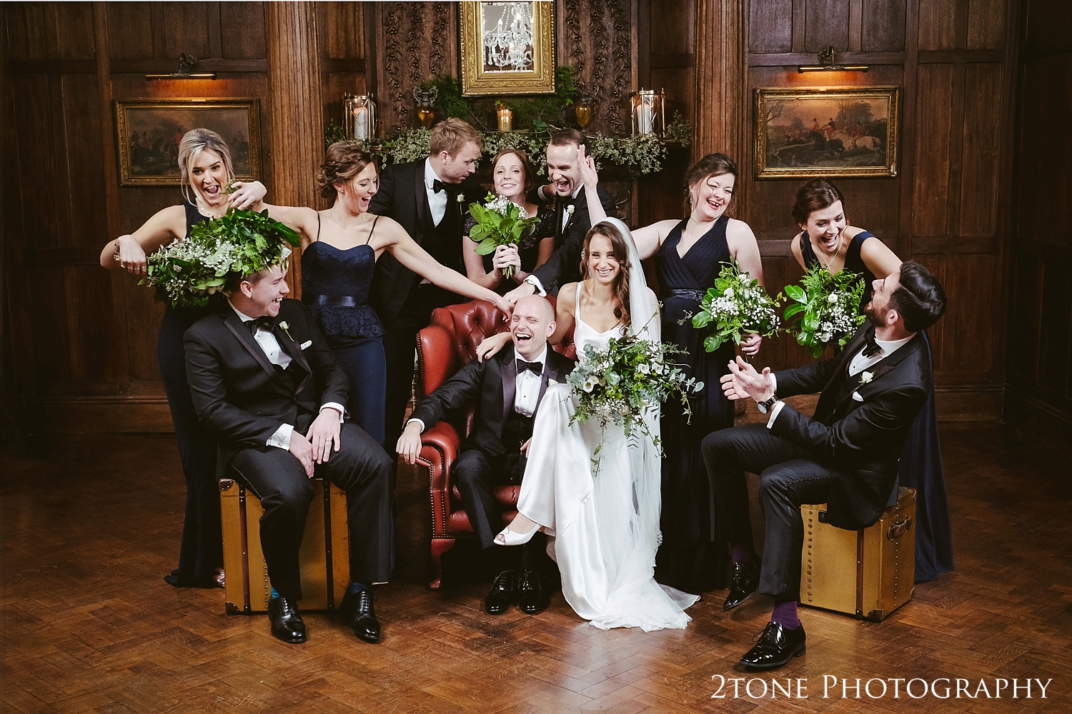Natural and fun photography at Ellingham Hall. Winter wedding photography by www.2tonephotography.co.uk