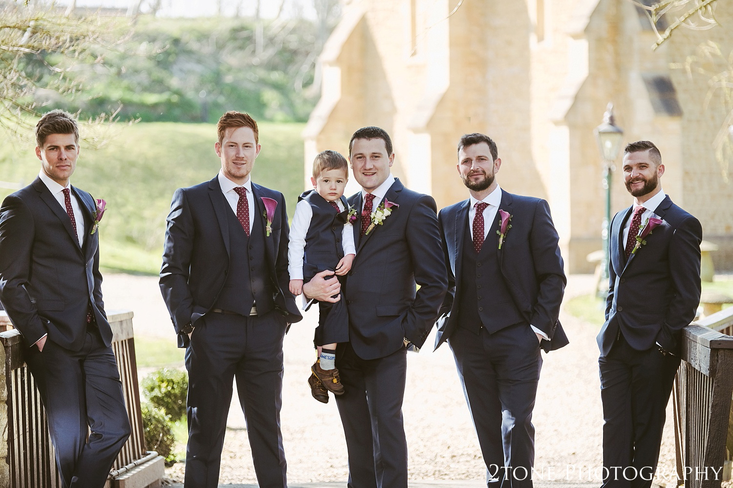 The Groomsmen.  Wedding photography at Haselbury Mill and the Old Tythe Barn in Somerset by www.2tonephotography.co.uk