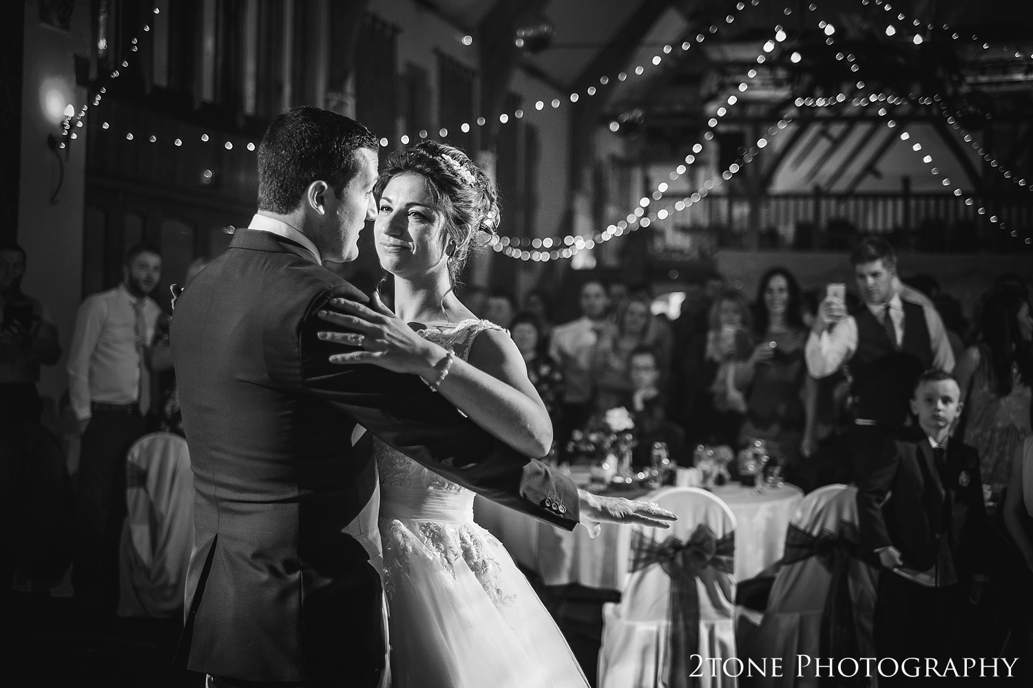 Wedding first dance at Haselbury Mill and the Old Tythe Barn in Somerset by www.2tonephotography.co.uk