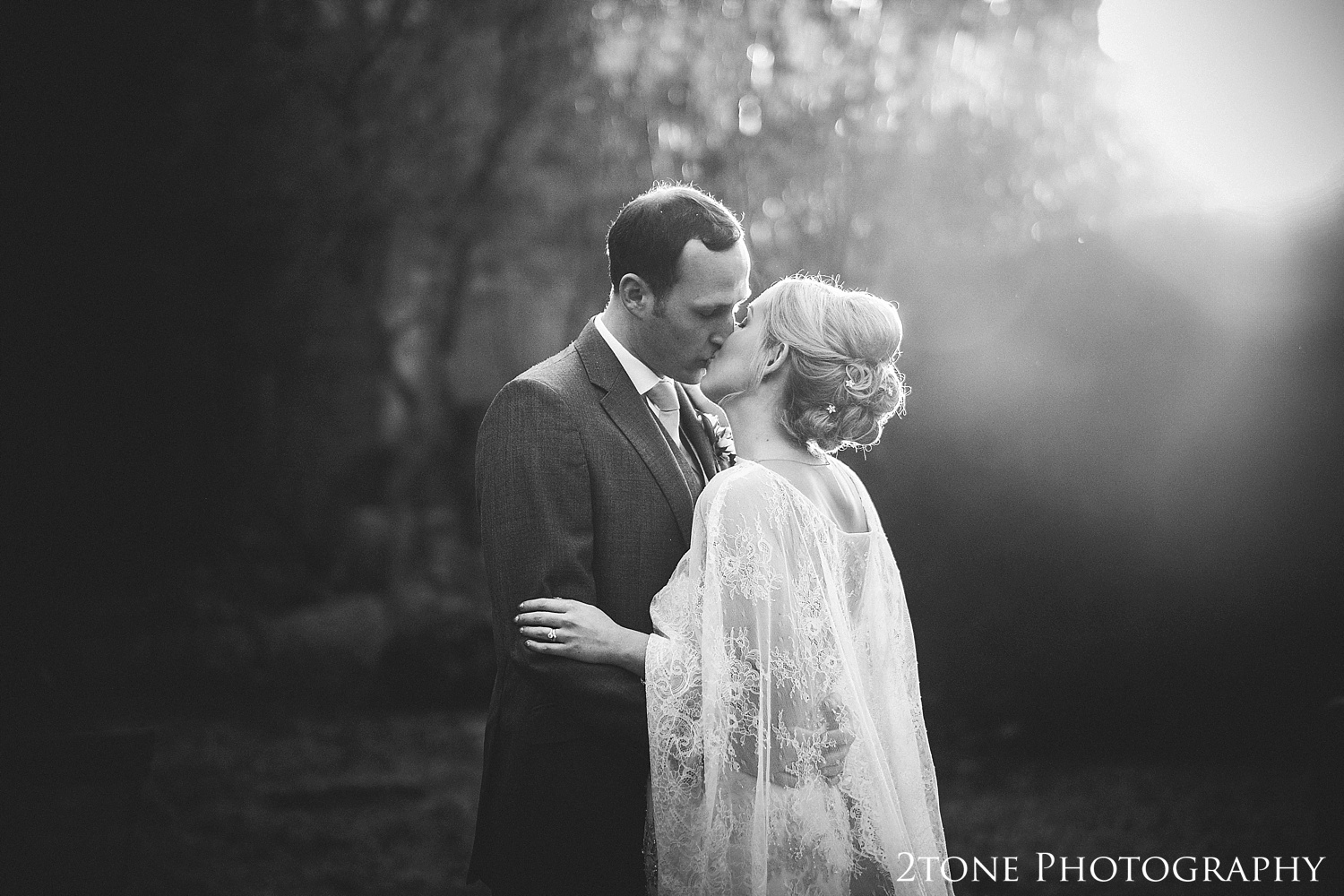 Winter wedding photograph at Jesmond Dene House