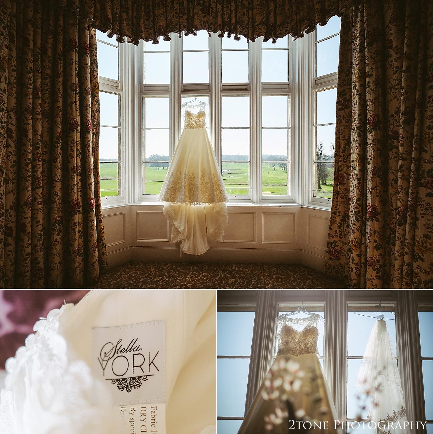 Matfen Hall wedding dress