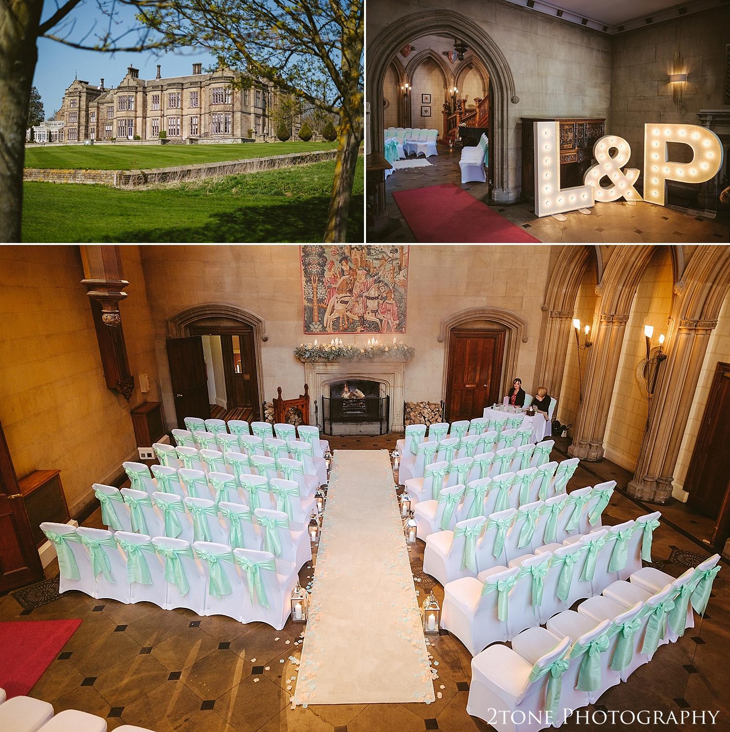 Matfen Hall great hall wedding
