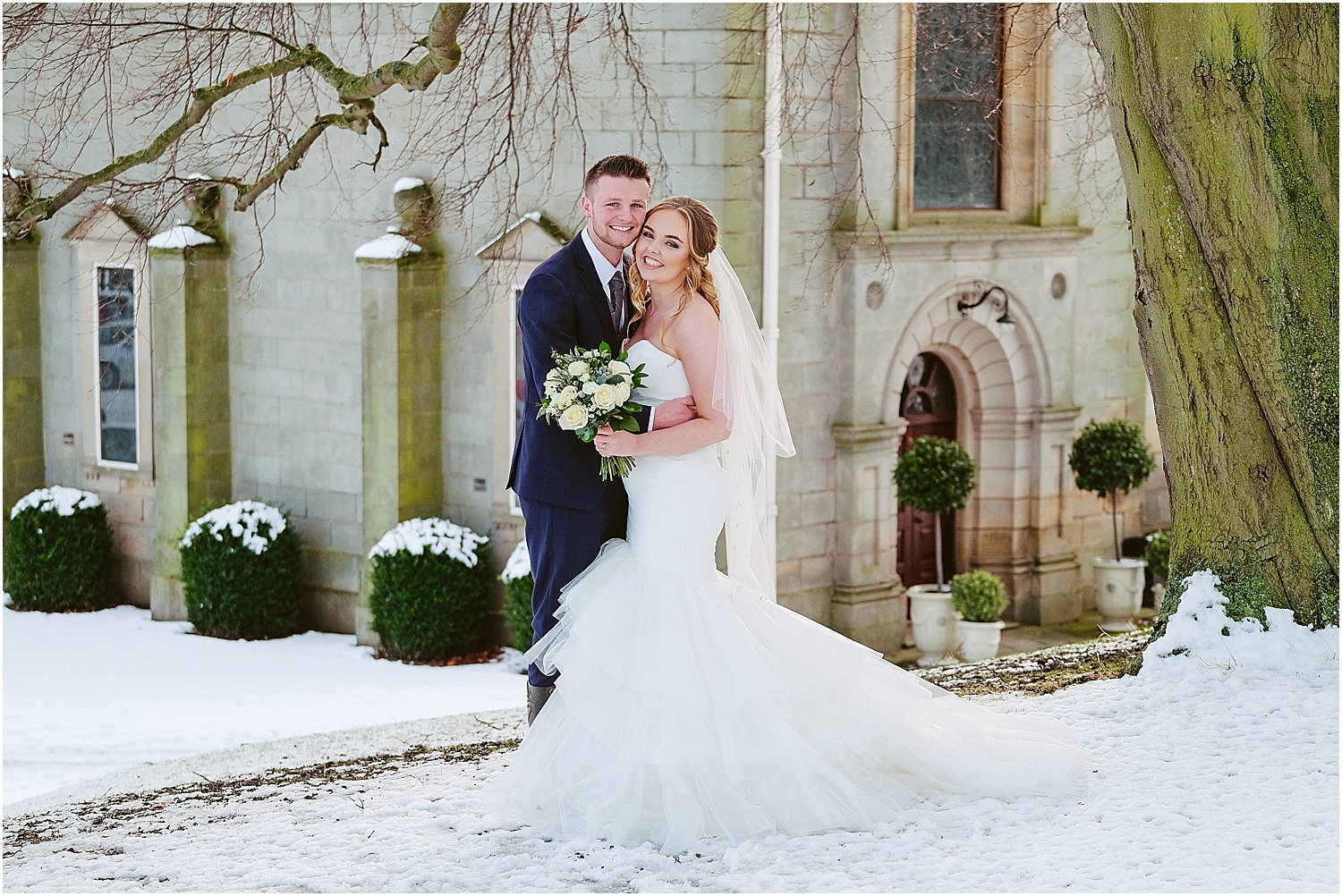 Wynyard Hall winter wedding photographer