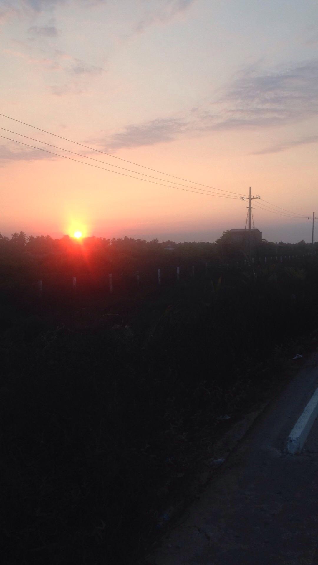 Sun rise in the pacific coast