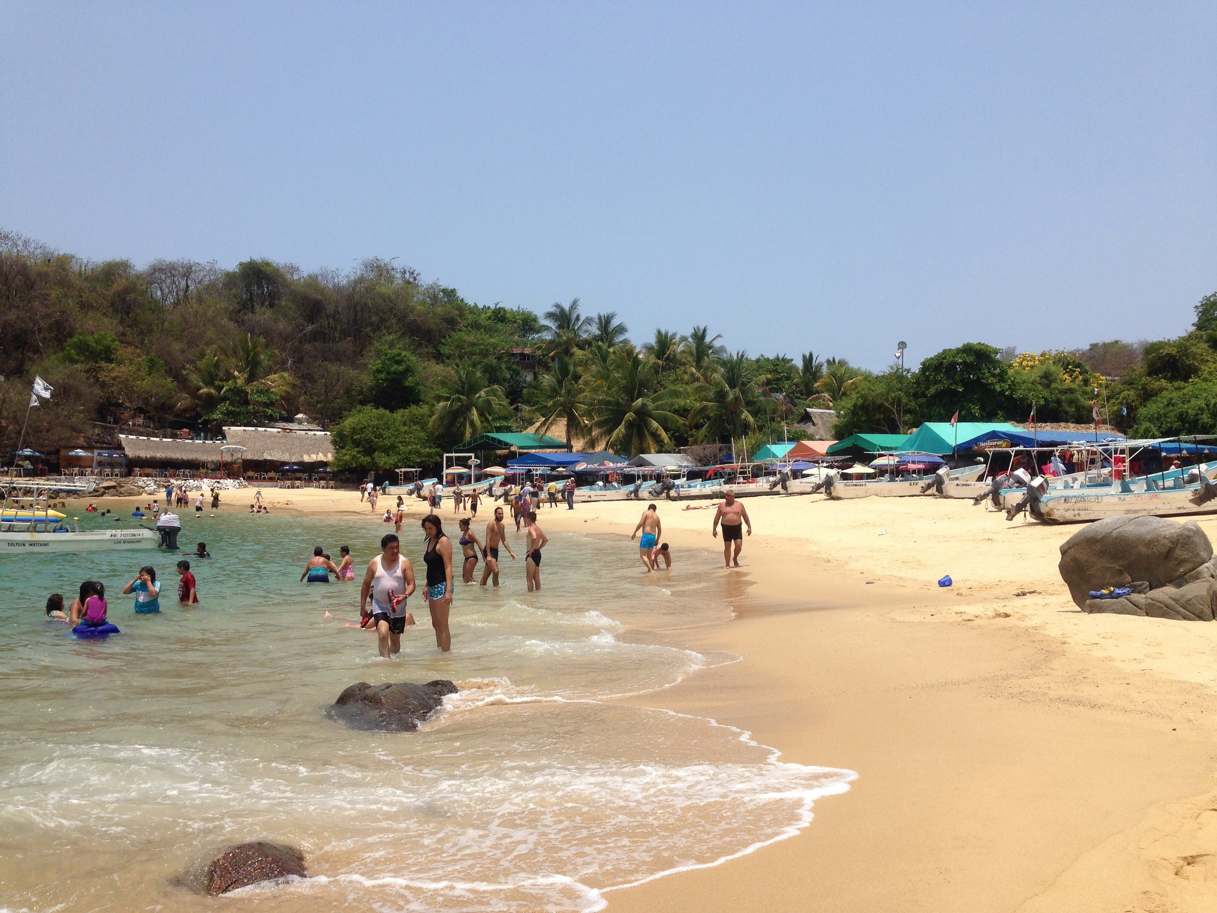 Crowded beach. Not used to it