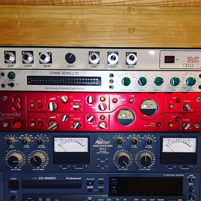 I lose sleep over this, Focusrite's Red 3 compressor. Super clean, super transparent, super red #want #focusrite #mix #proaudio #audioengineer #musicproducer #lust