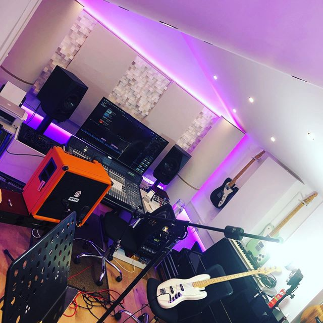 The image our viewers don't see when we produce videos. Looks tidy in shot but around the room is utter chaos #video #filming #contentcreator #finalcutpro #lightscameraaction #bassguitar #tutorial
