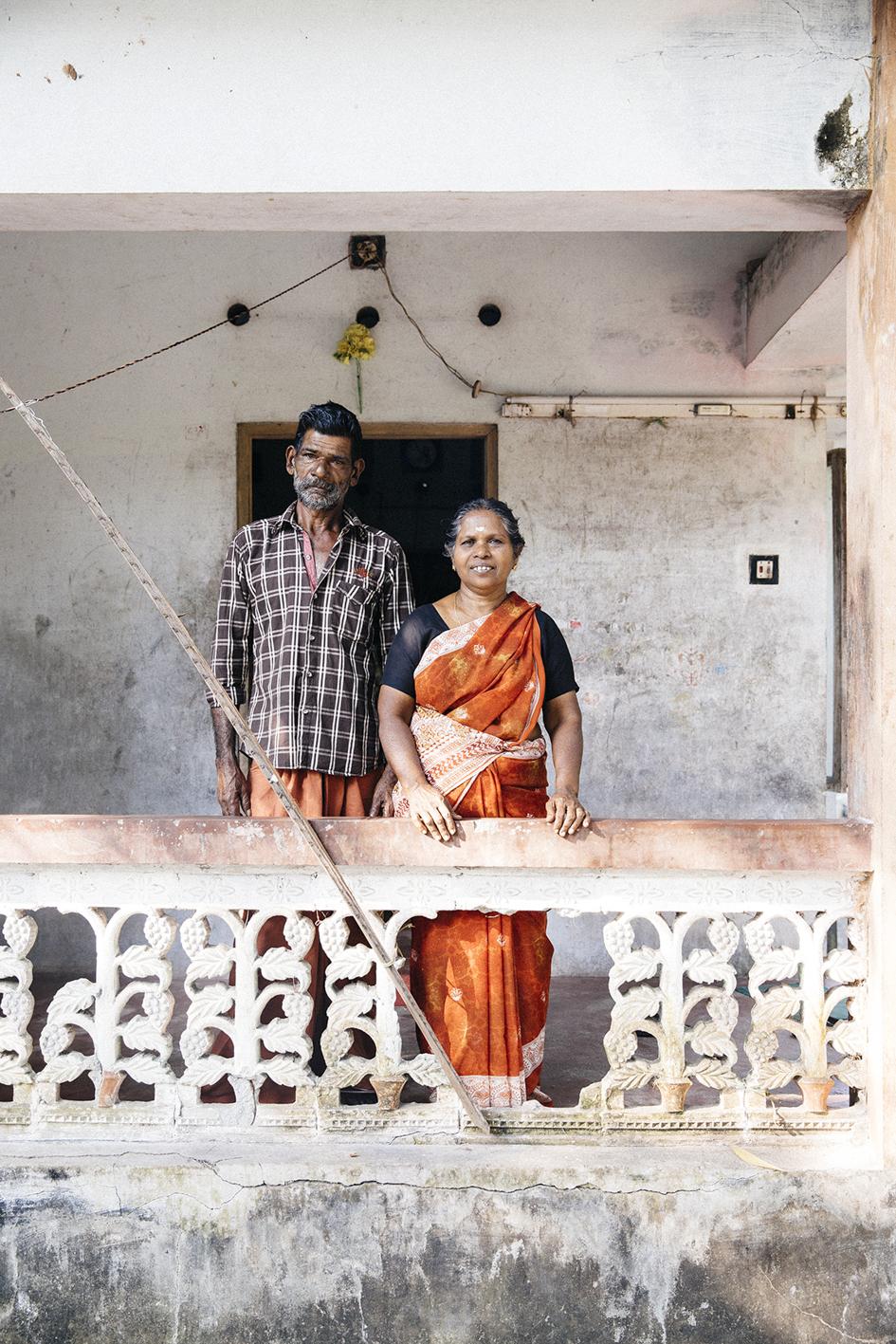 Rajan och Santha, Kerala Indien