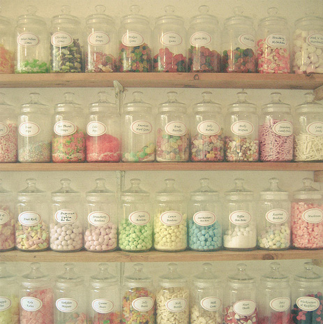 ...to aesthetically pleasing glass sweet jars.